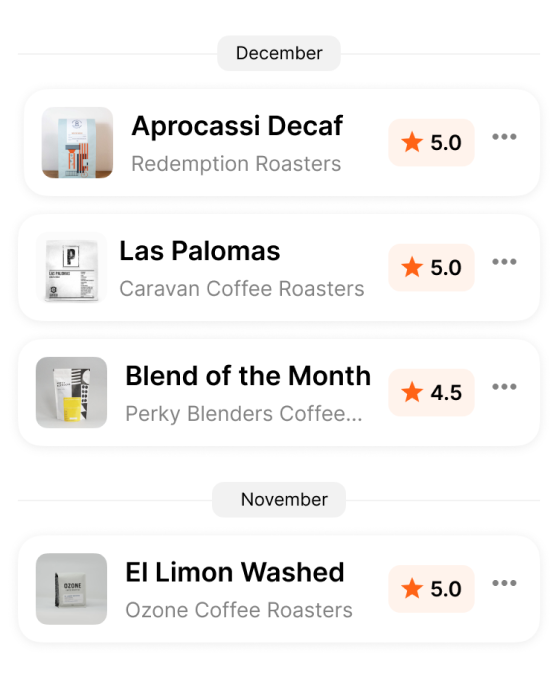 Journal all your coffee in one place. Coffee tracking made right by Coffeeopia.